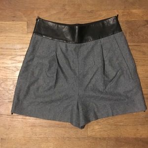 DVF leather grey wool black  Leather short 8 M